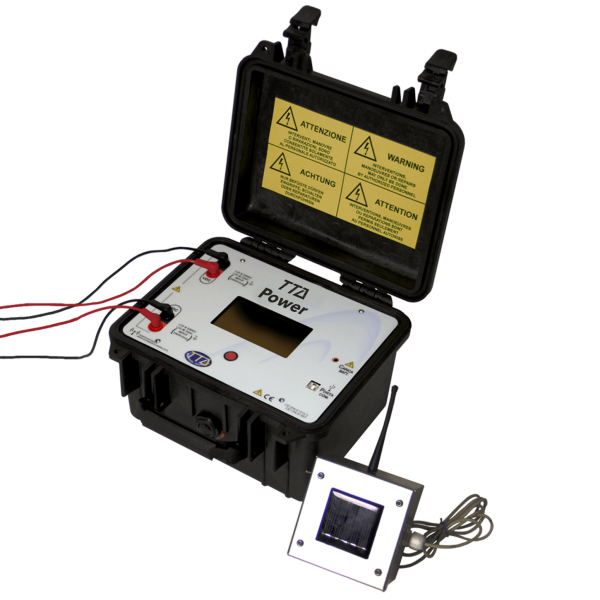TTA Power IV I-V curve measurement device graphs real time usb photovoltaic installation
