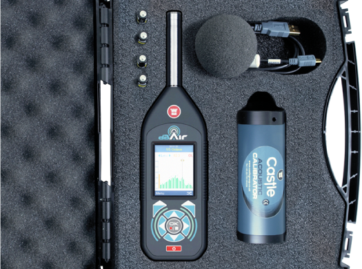 Castle Group dBAir Sound Meter Octave Band Measurement Analysis Environment Sound Meter Calibrator